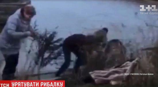 На Донеччині копи випадково врятували рибалку, якому стало зле на воді