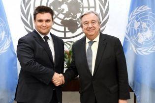 Климкин обсудил с генсеком ООН перспективы введения миротворцев на Донбасс
