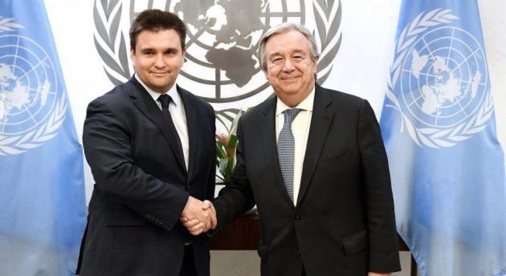 Клімкін обговорив із генсеком ООН перспективи введення миротворців на Донбас