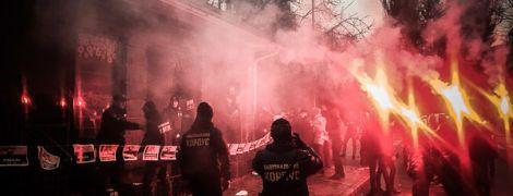"""В Кременчуге активисты """"Национального корпуса"""" устроили стычку с полицейскими"""