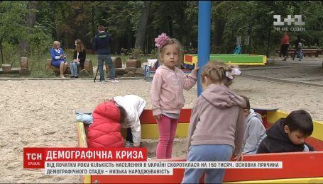 Через низьку народжуваність за рік українців стало менше на 150 тисяч