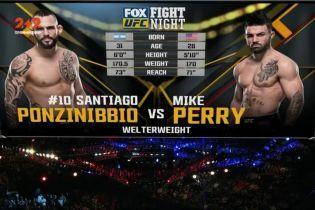 UFC 17 декабря 2017 года. Сантьяго Понзиниббио - Майк Перри. Видео боя
