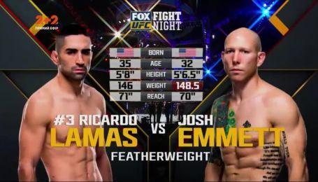 UFC 17 грудня 2017 року. Джош Еммет - Рікардо Ламас. Відео бою