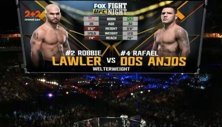 UFC 17 декабря 2017 года. Рафаэл Дос Аньос - Робби Лоулер. Видео боя