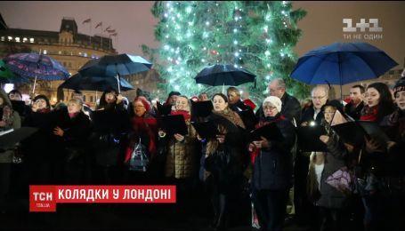 Католический и православный хоры исполнили украинские колядки в центре Лондона
