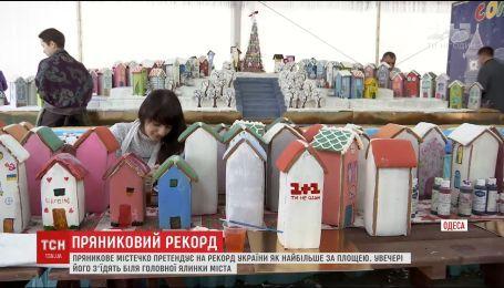 В Одессе готовятся к рекорду Украины, зарегистрировав самый большой по площади пряничный городок