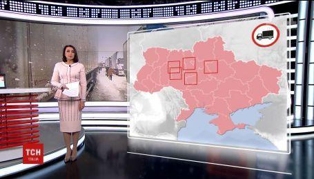 Из-за снегопадов движение грузовиков запретили в пяти областях Украины