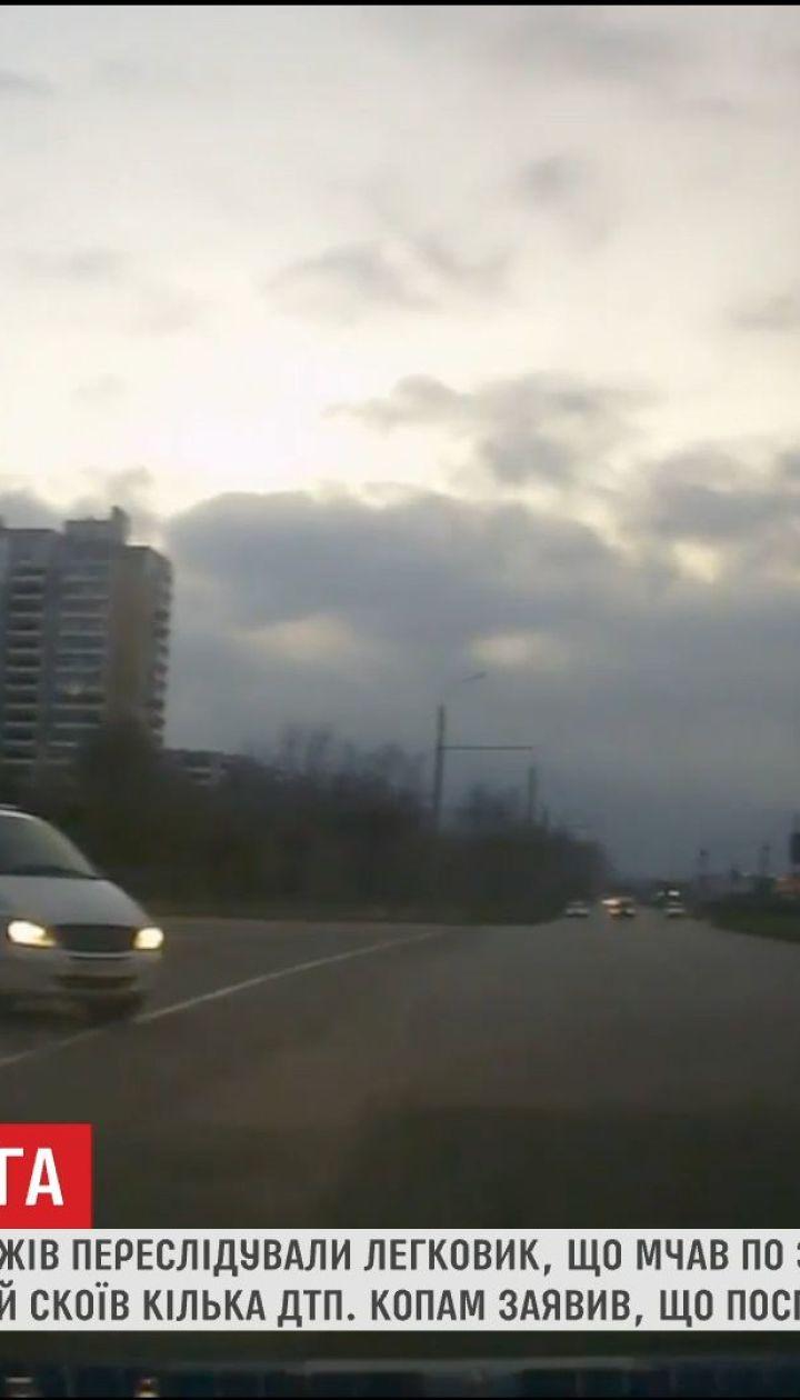 В Запорожье водитель дорогой в церковь устроил гонки с полицией и устроил ДТП