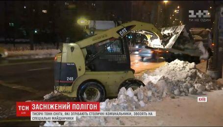 Сніг з Києва тонами вивозять на спеціальні полігони за містом