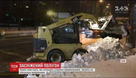 Снег из Киева тонами вывозят на специальные полигоны за городом