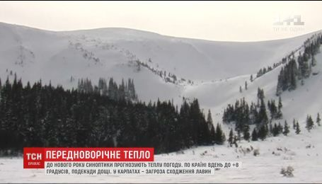 Україну перед новим роком настигла весняна погода