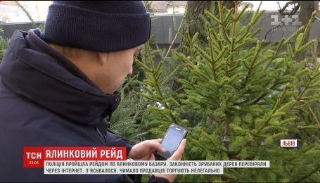 У Львові правоохоронці провели рейд ялинковим ринком