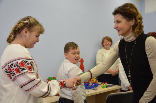 Марина Порошенко та Валентин Резніченко відкрили перший в Україні інклюзивно-ресурсний центр для особливих дітей
