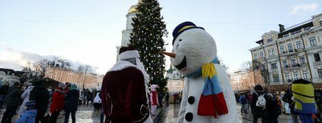 В Киеве при зрителях утилизировали главную елку страны