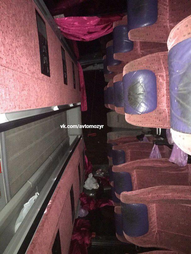 Под Киевом перевернулся автобус с белорусами