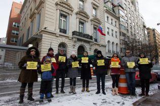 У Нью-Йорку перед консульством РФ відбулася акція на підтримку Сенцова