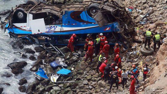 У Перу продовжує зростати кількість жертв автокатастрофи пасажирського автобуса