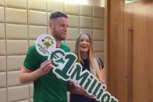 Ирландский футболист выиграл в лотерею миллион евро