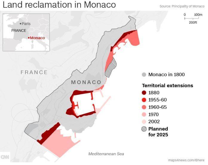 Монако розширить свою територію