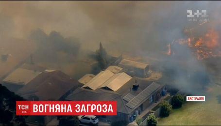 В Австралии вспыхнул масштабный лесной пожар