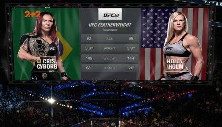 UFC 219. Кристиан Джустино - Холли Холм. Видео чемпионского боя