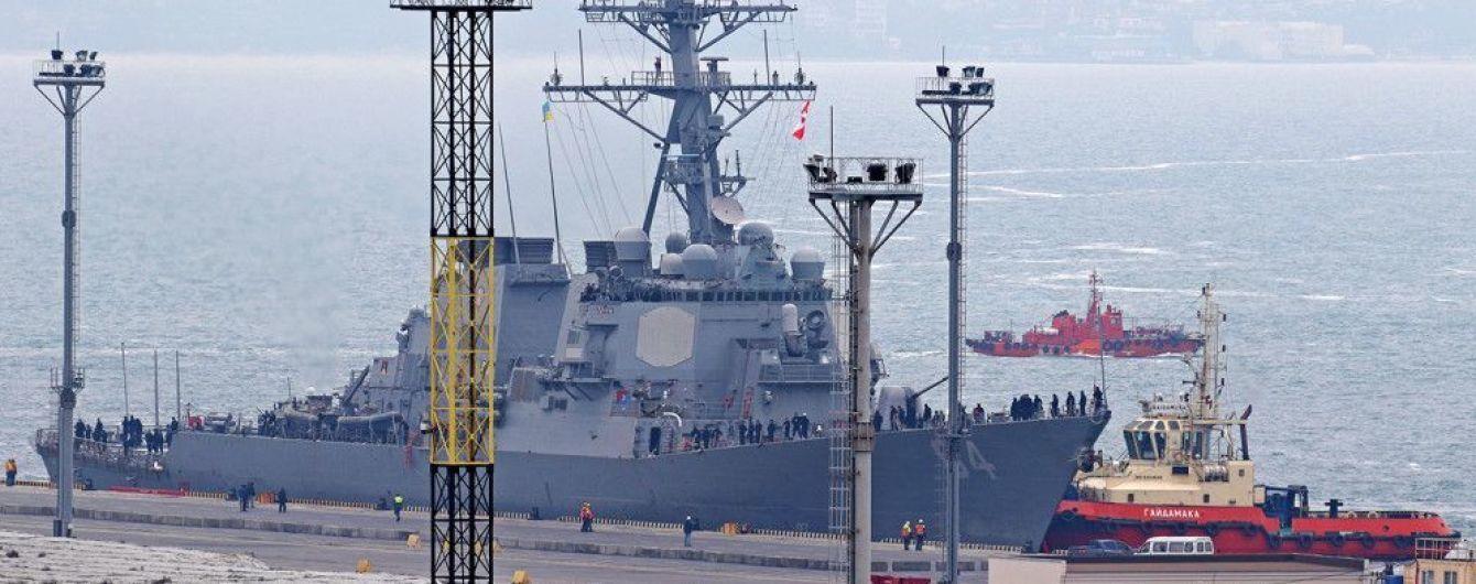 Первый в новом году эсминец НАТО прибыл в Одессу