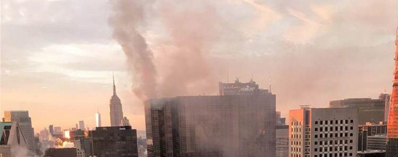 В Нью-Йорке загорелся небоскреб Трампа с его резиденцией