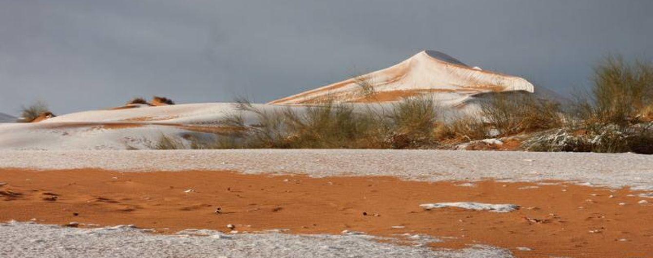 Пустелю Сахару знову вкрив сніг