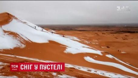 У найбільшій пустелі світу Сахарі випав сніг