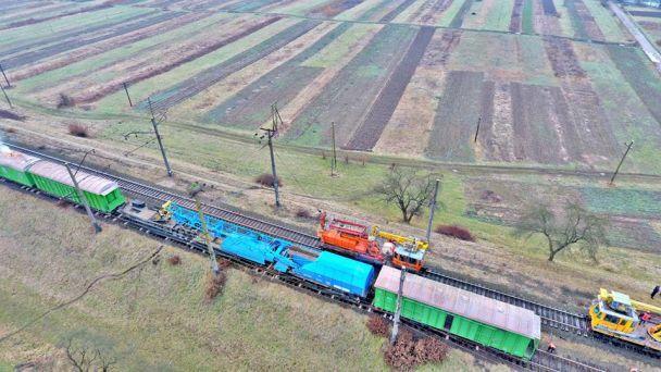 На Закарпатье сошел с рельсов грузовой поезд