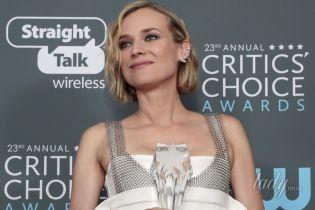 В экстравагантном платье и с эффектным макияжем: Диана Крюгер на церемонии Critics' Choice Awards
