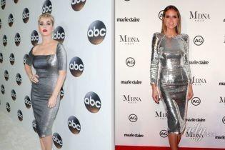 Битва серебристых платьев: Кэти Перри vs Хайди Клум
