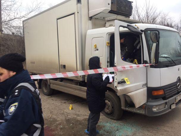 У Мережі оприлюднили фото з місця розстрілу бізнесмена у Запоріжжі