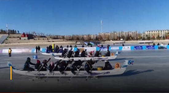 На лодках по льду. В Китае прошли уникальные соревнования