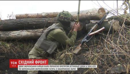 Двоє українських бійців зазнали поранень на фронті