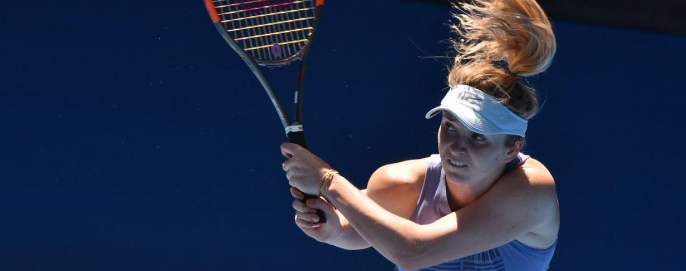 Свитолина стартовала с победы на турнире в Дохе