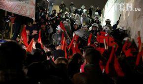 В Афинах полиция применила слезоточивый газ во время столкновений с митингующими