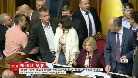 Депутати переглянули половину правок у законопроекті про реінтеграцію Донбаса