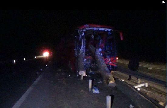 Під час ДТП з лісовозом на Житомирщині колоди пробили автобус та травмували пасажирів