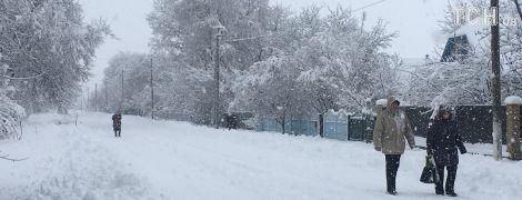 Зимняя сказка или стихия. Украину начало заваливать снегом до колен