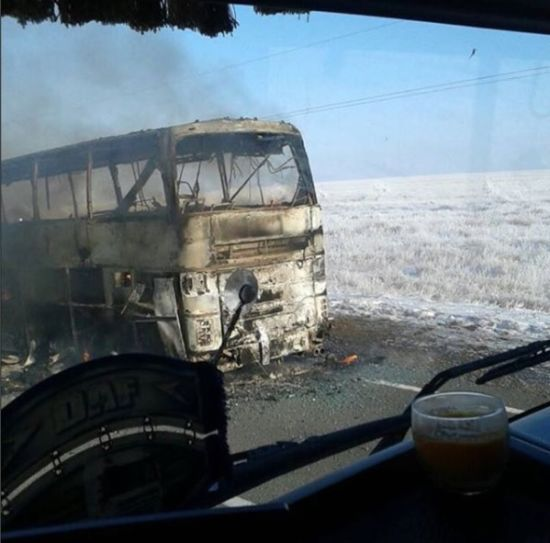 Жахлива пожежа в Казахстані: стала відома причина загоряння автобуса