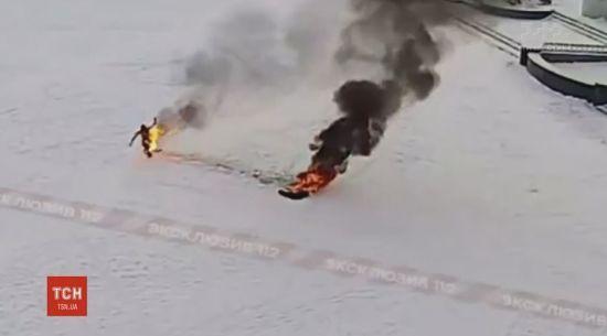 """Звільнений інженер з """"Газпрому"""" спалив себе перед мерією у місті Башкирії"""