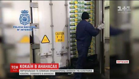 В Португалии арестовали наркоторговцев, которые спрятали 745 килограммов кокаина в ананасах