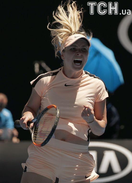 Світоліна після матчу Australian Open дала інтерв'ю зі змією на шиї