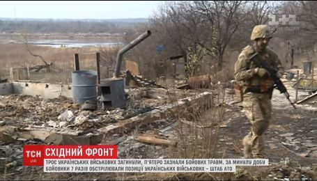 Боевики на фронте палят по украинским позициям с запрещенного оружия