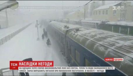 Непогода в Одесской области парализовала всю область