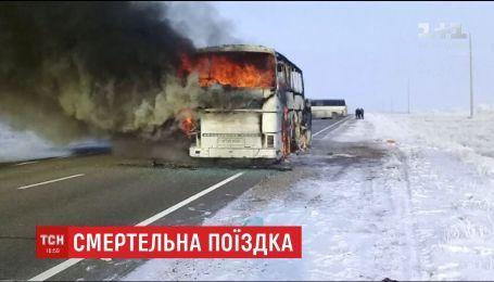 В Казахстане люди заживо сгорели в пассажирском автобусе