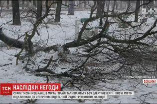 Через потужний снігопад Ізмаїл напередодні лишився без електрики