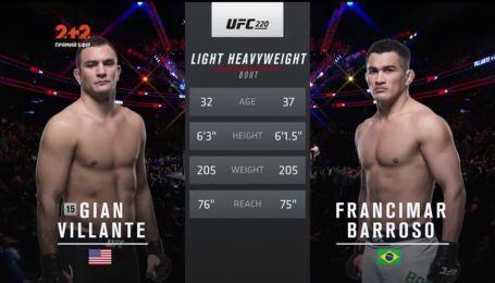 UFC 220. Гіан Віланте - Франсімар Баросо. Відео бою