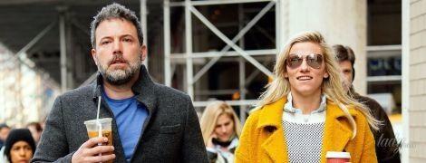 Выглядит не очень: Бен Аффлек с возлюбленной попали в объективы папарацци в Нью-Йорке